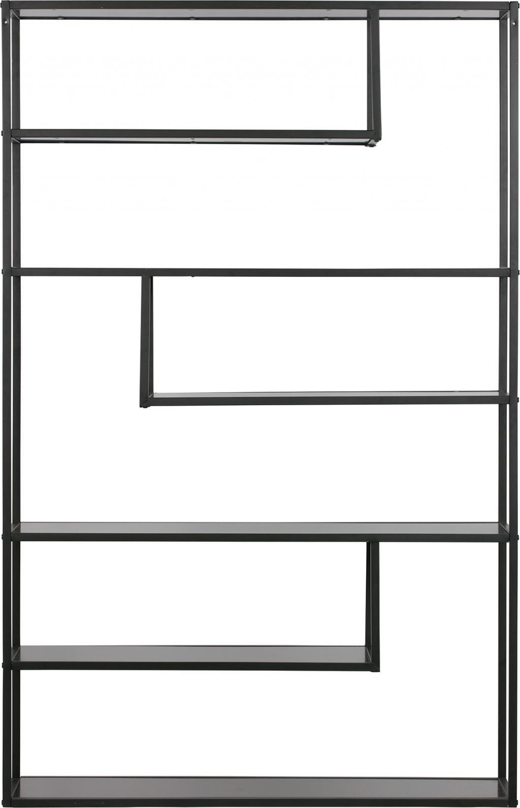 Vakkenkast Teun Xl 120 Cm Zwart Metaal Woood Lilnl